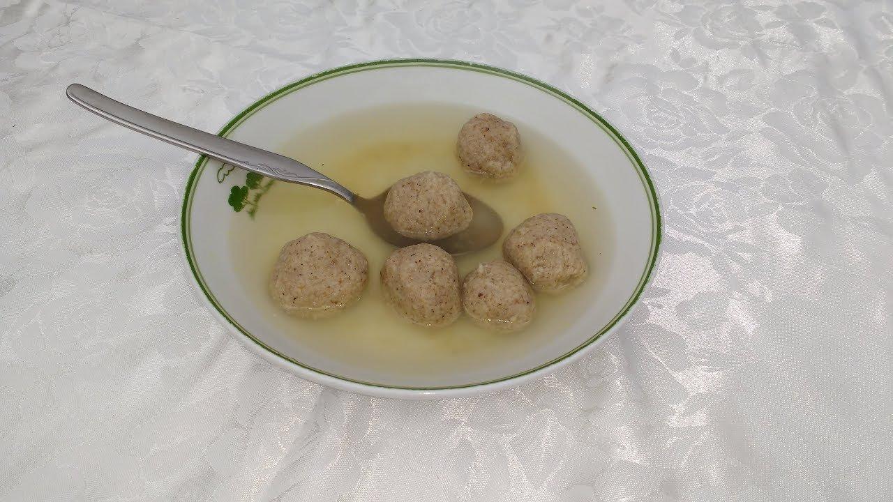 Receta de Sopa Con Kneidalaj con un ingrediente secreto