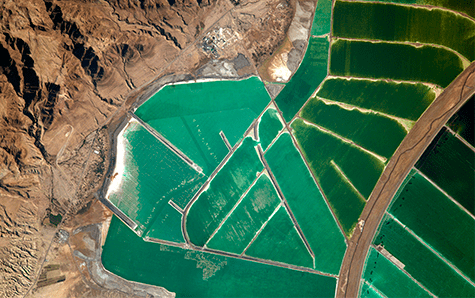 El Mar Muerto visto desde el espacio