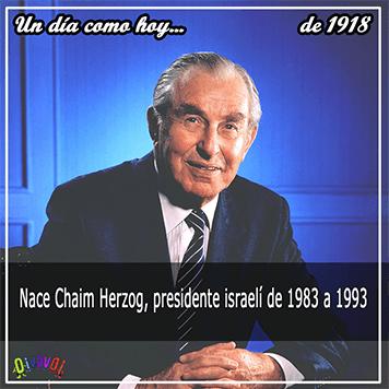 17 de septiembre Chaim Herzog