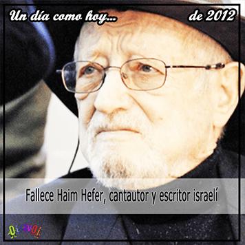 18 de septiembre Haim Hefer