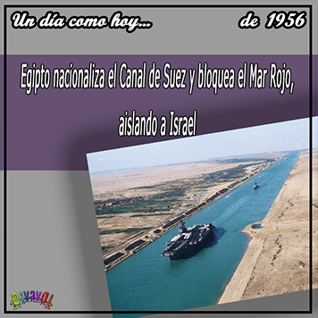 28 de septiembre Canal de Suez