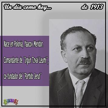 29 de septiembre Yaakov Meridor