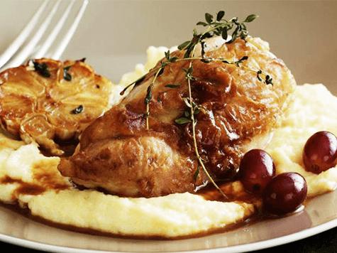 Pollo agridulce al brandy, o'del pariente rico'