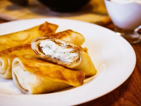 Blintzes (panqueques) de queso brie