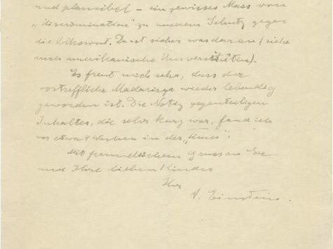 Descubren carta donde Einstein se burla de los nazis