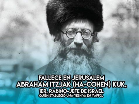 Abraham Itzjak (ha-Cohen) Kuk, 1er. Rabino-Jefe de Israel