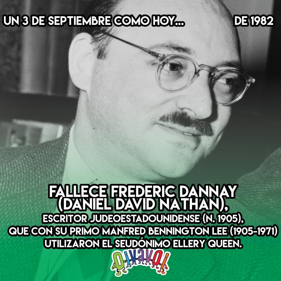 3 de Septiembre: Frederic Dannay
