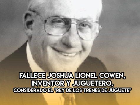 8 de Septiembre: Joshua Lionel Cowen
