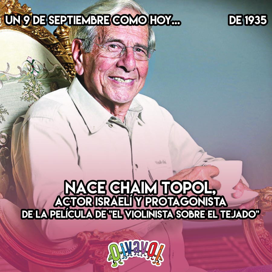 """1935: Nace Chaim Topol, actor israelí y protagonista de la película de """"El violinista sobre el tejado"""""""