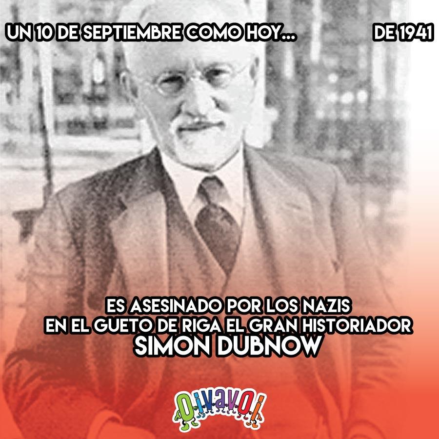 10 de Septiembre: Simon Dubnow