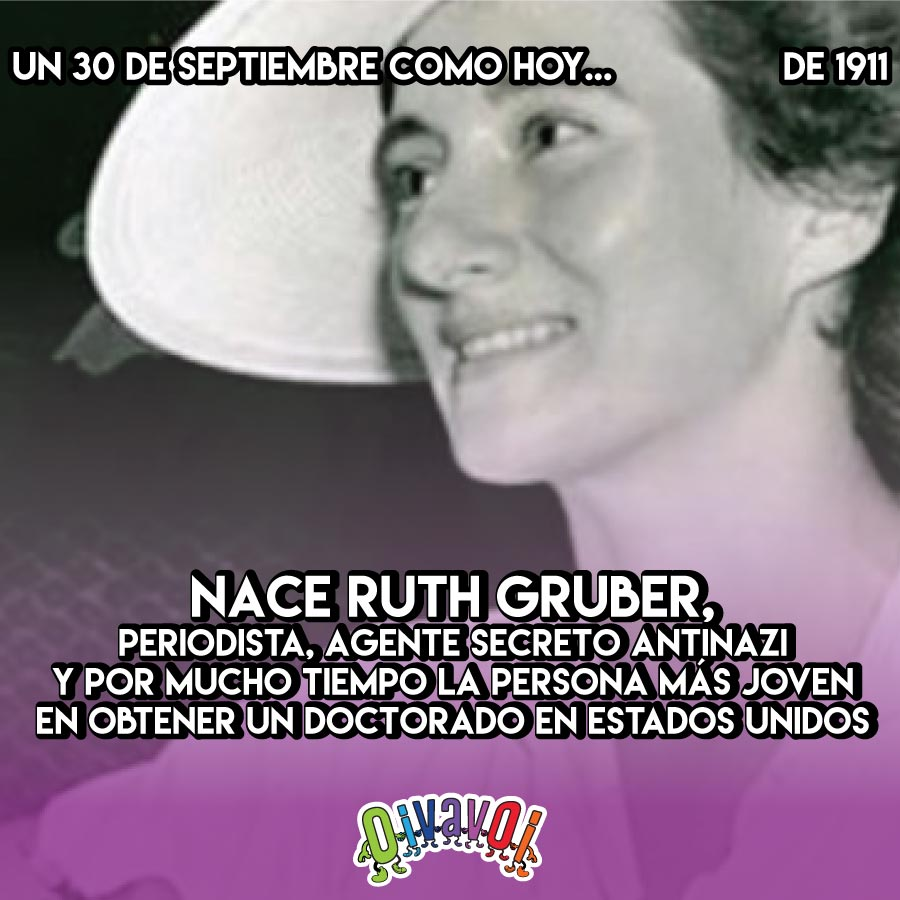 30 de Septiembre: Ruth Gruber
