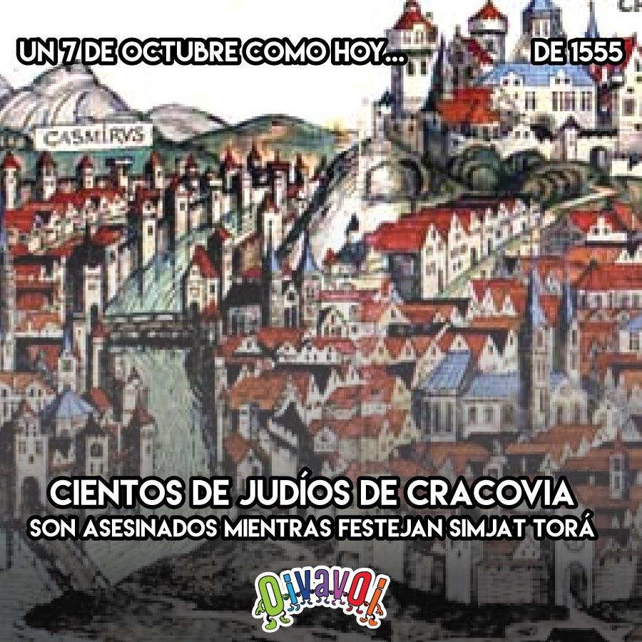 7 de Octubre: Pogrom en Cracovia