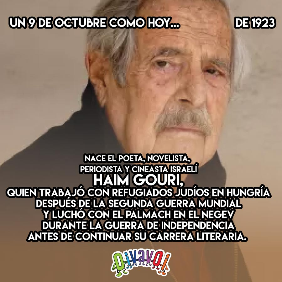 9 de Octubre: Haim Guri