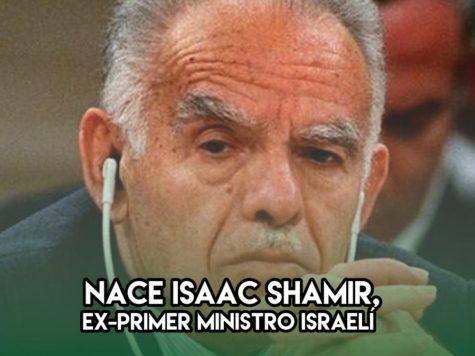 Isaac Shamir nace un 15 de octubre