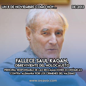 Saul Kagan: 8 de Noviembre