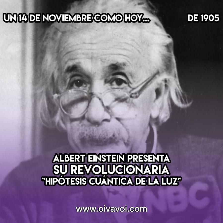 """Albert Einstein presenta su revolucionaria """"Hipótesis cuántica de la luz"""""""