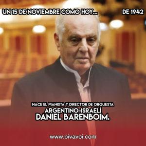 Daniel Barenboim: 15 de Noviembre