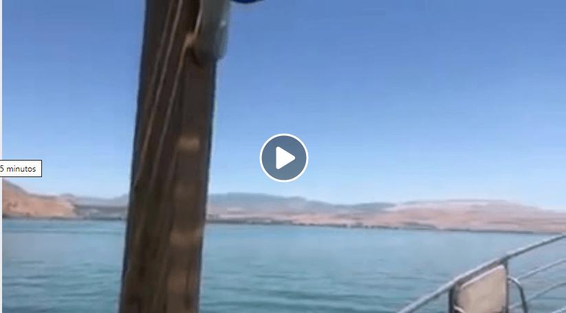 El lago Tiberiades, 215 metros bajo el nivel del mar