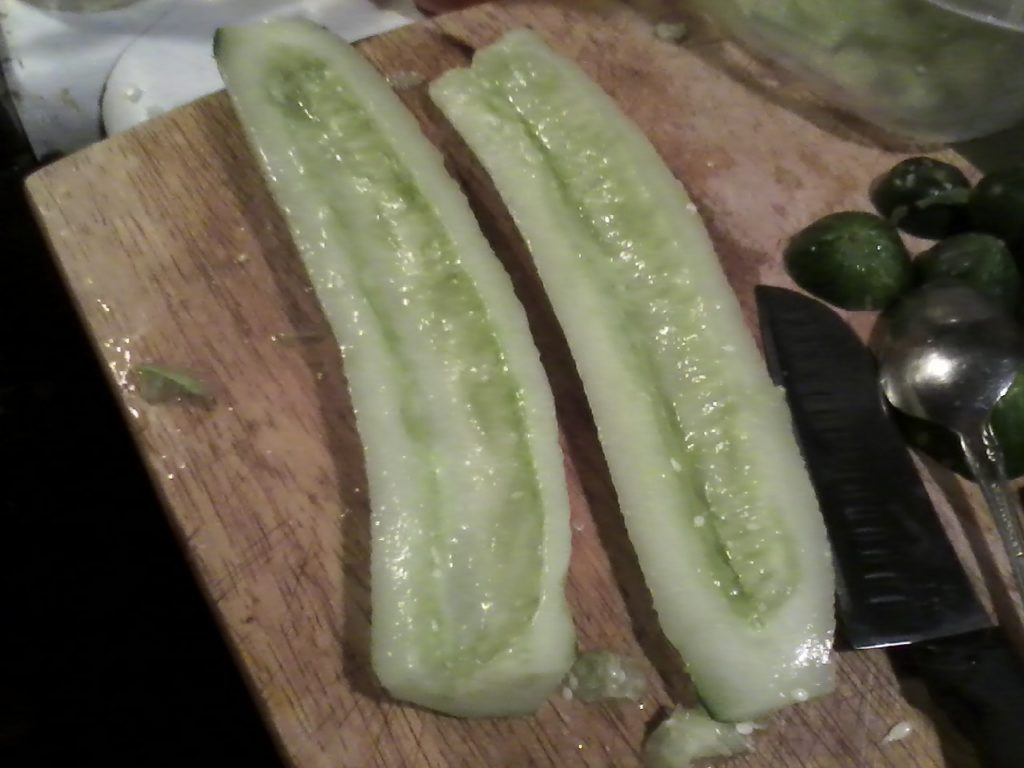 Khiyar dolma (pepinos rellenos)