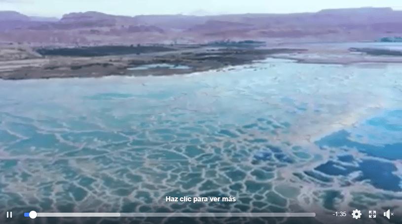 Fascinantes imágenes del Mar Muerto visto desde el aire