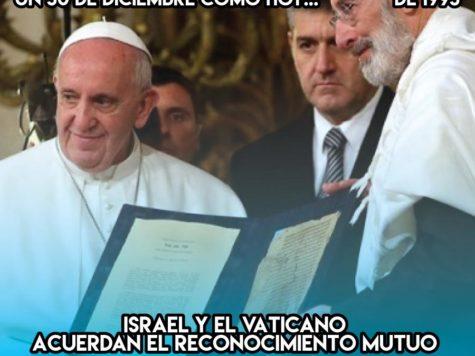 Israel y el Vaticano: 30 de Diciembre