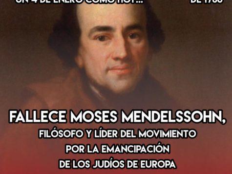 Moses Mendelssohn: 4 de Enero