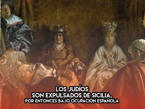 Expulsión de los judíos de Sicilia: 12 de Enero
