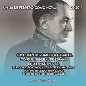 Sebastián de Romero Radigales: 26 de Febrero