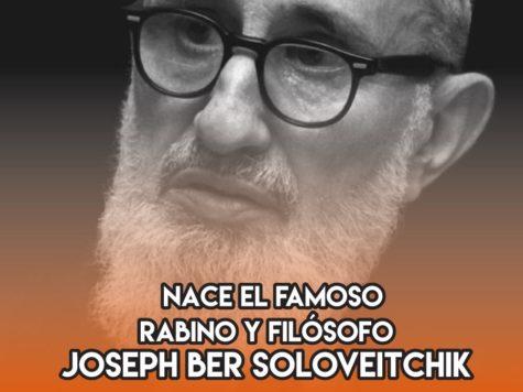 Joseph Ber Soloveitchik: 27 de Febrero