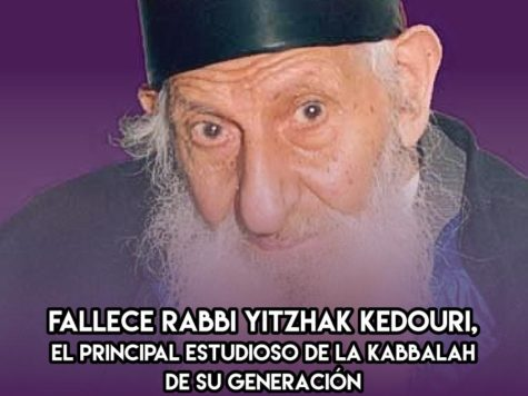 Rabbi Yitzhak Kedouri: 28 de Enero