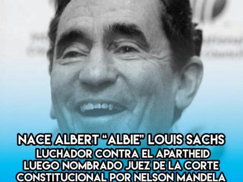 """""""Albie"""" Sachs: 30 de Enero"""