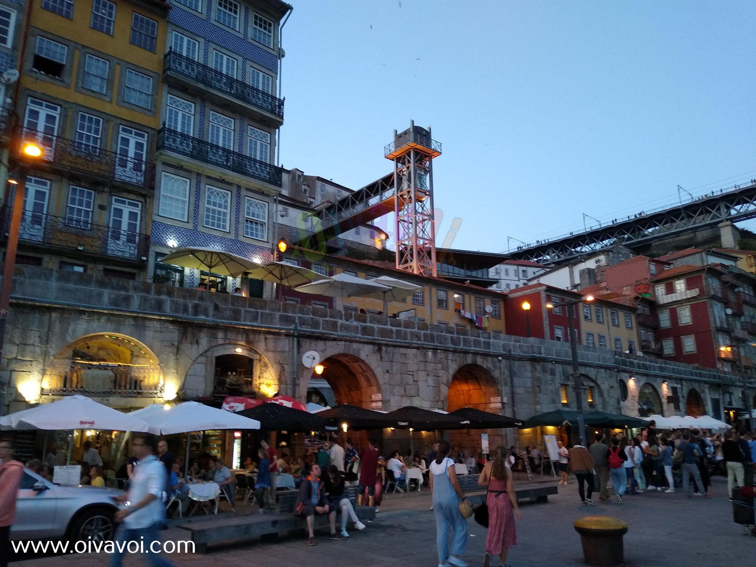 Cenar de noche en Oporto