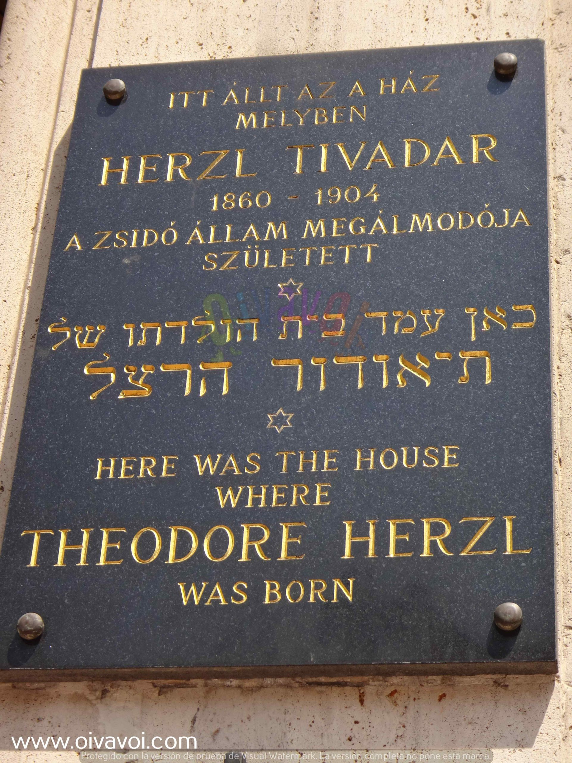 Plazoleta Herzl en Budapest