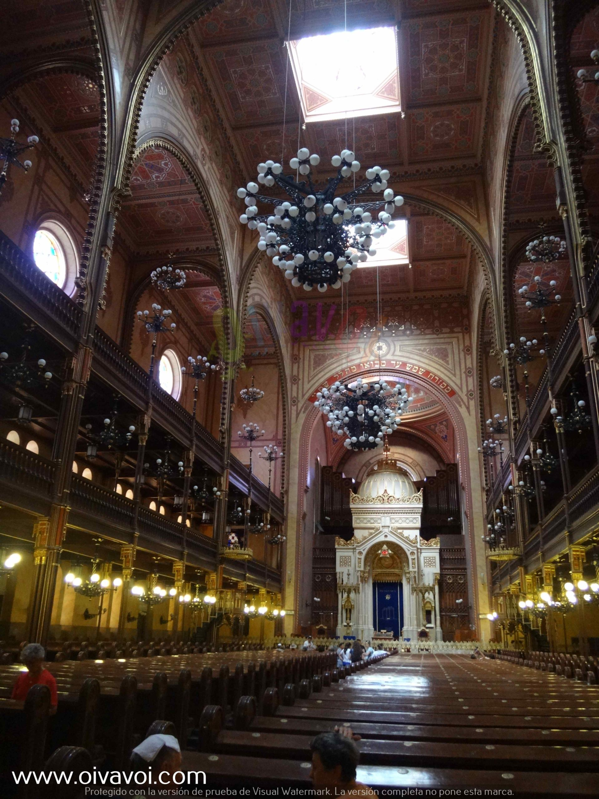 Interior de la sinagoga Dohany