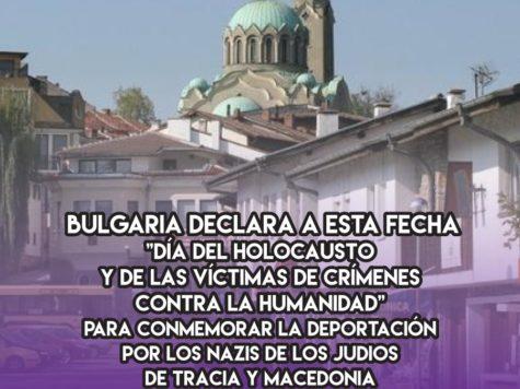 Día del Holocausto en Bulgaria: 10 de Marzo
