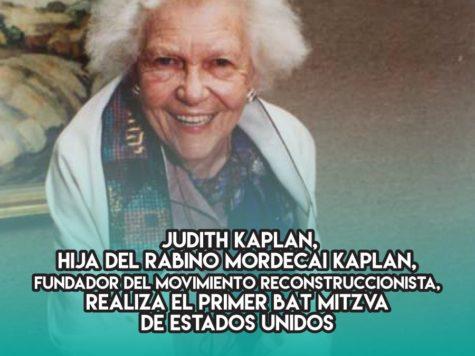 Judith Kaplan: 18 de Marzo