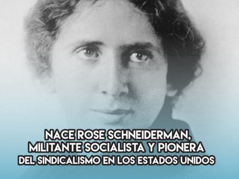 Rose Schneiderman: 6 de Marzo