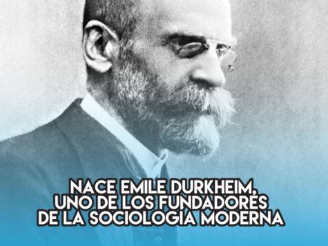 Emile Durkheim: 15 de Abril