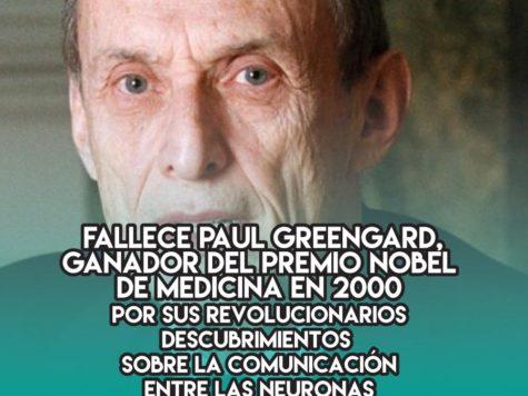 Paul Greengard: 16 de Abril