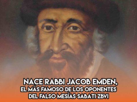 Rabbi Jacob Emden: 4 de Junio