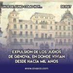 Expulsión en Génova: 15 de junio