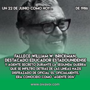 William Brickman, el agente 004