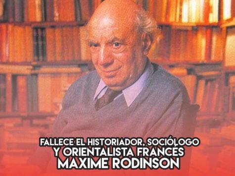 Maxime Rodinson: 23 de Mayo