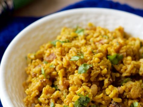 Arroz con nueces y curry (Orez Bombay)