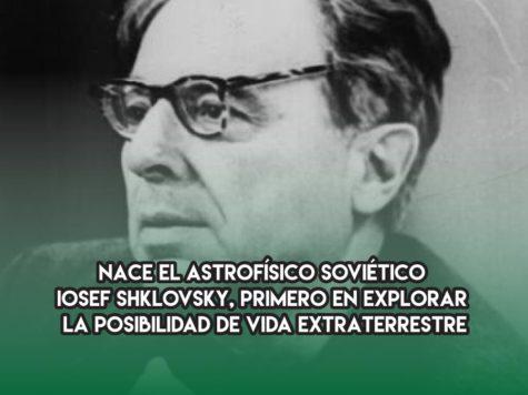 Iosef Shklovsky y la vida extraterrestre