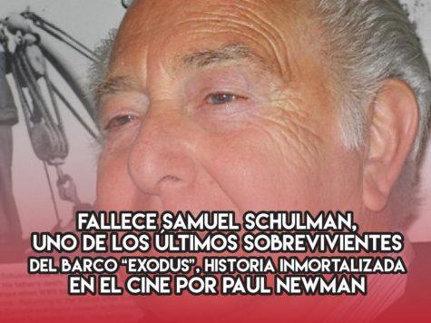 """Samuel Schulman y el """"Exodus"""""""