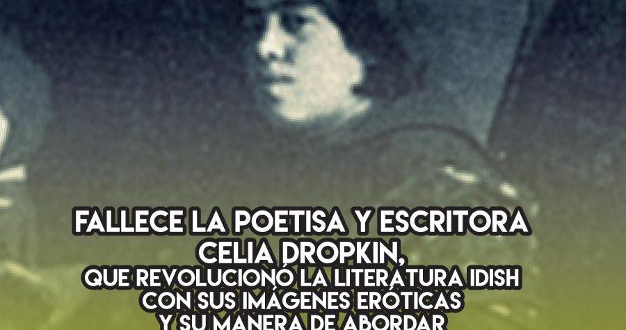 Celia Dropkin y el erotismo en idish