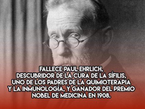 Paul Ehrlich y la cura de la sífilis