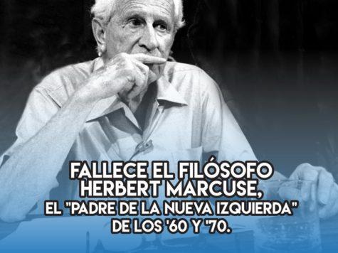 Herbert Marcuse: 29 de julio