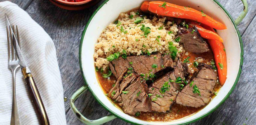Carne a la olla marroquí